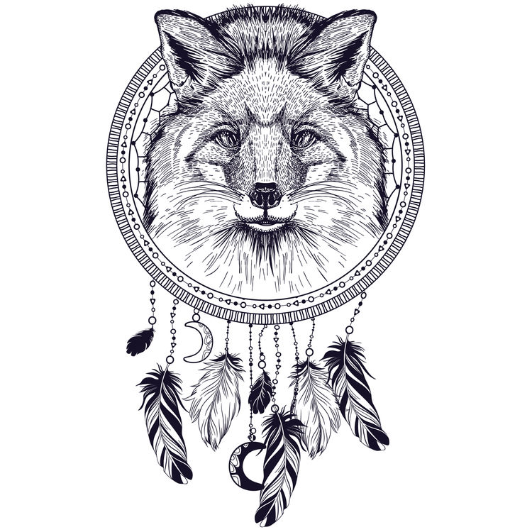 Dreamcatcher Wolf