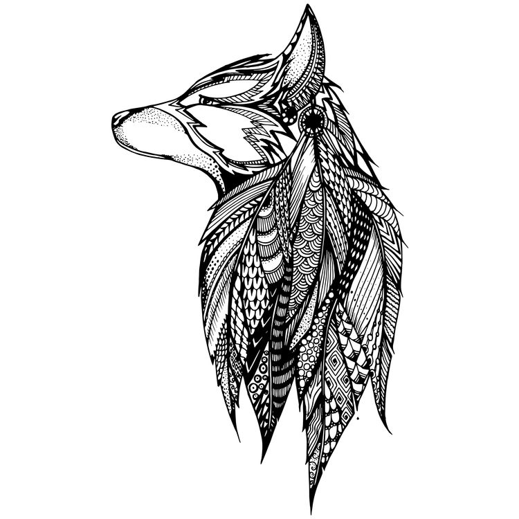 Native Feathered Wolf