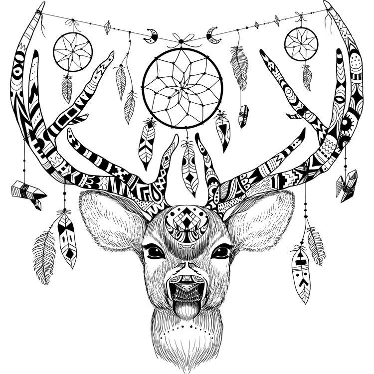 Deer Ornament Dreamcatcher