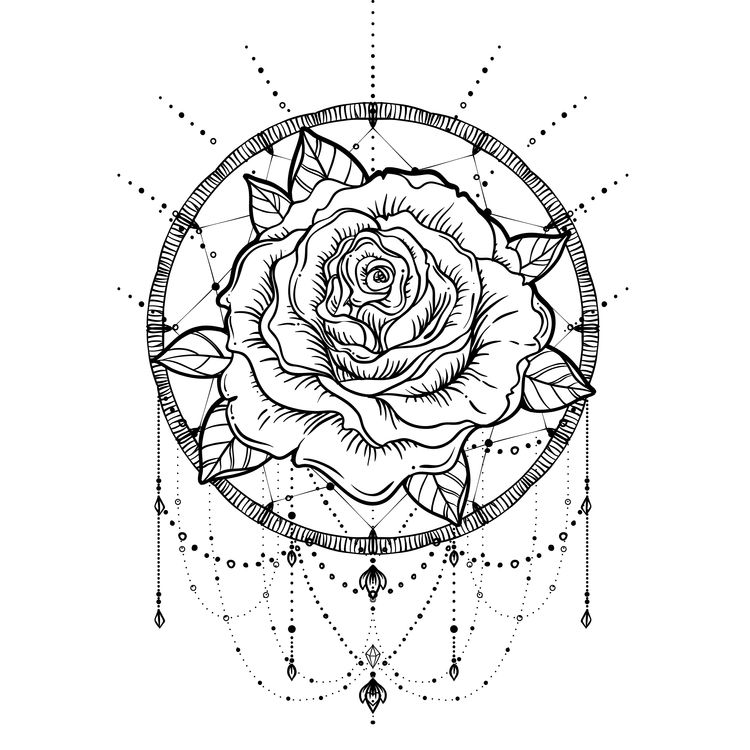 Shining Rose Dreamcatcher