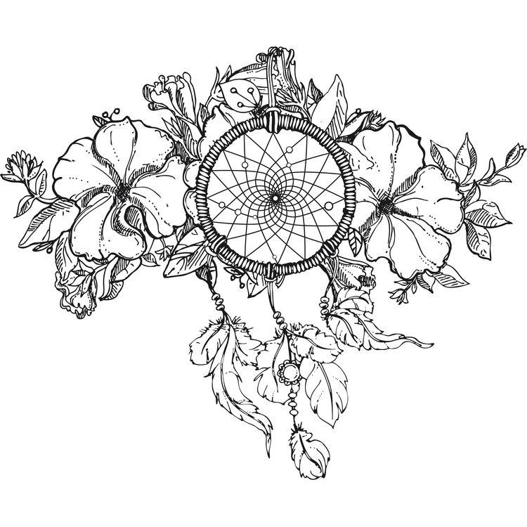 Tropical Floral Dreamcatcher