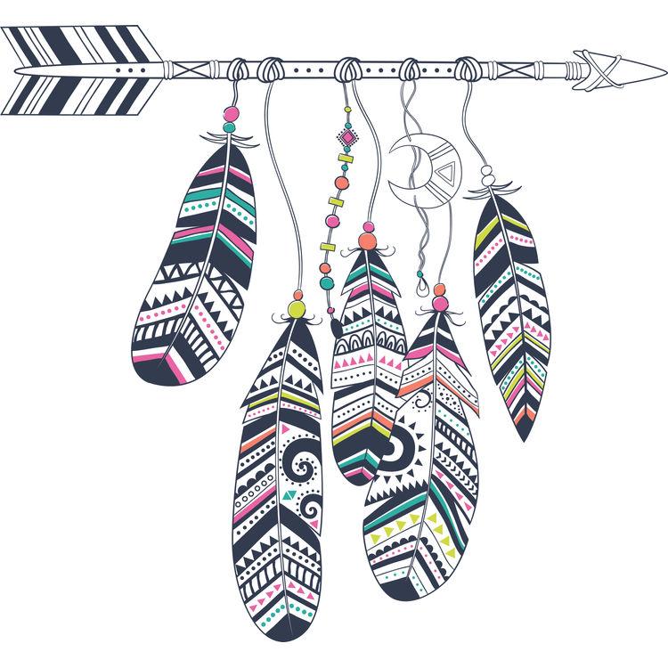 Boho Feathered Arrow
