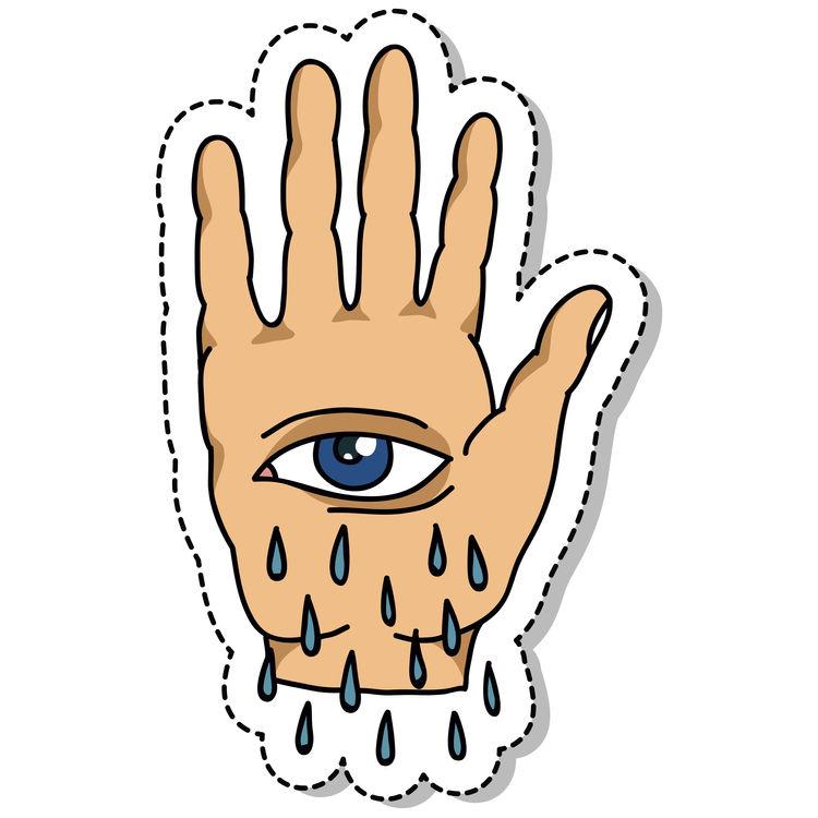 Tearful Eye Hand