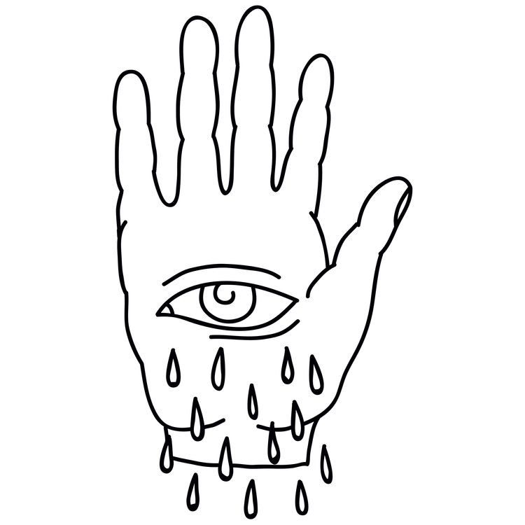 Black and White Tearful Eye