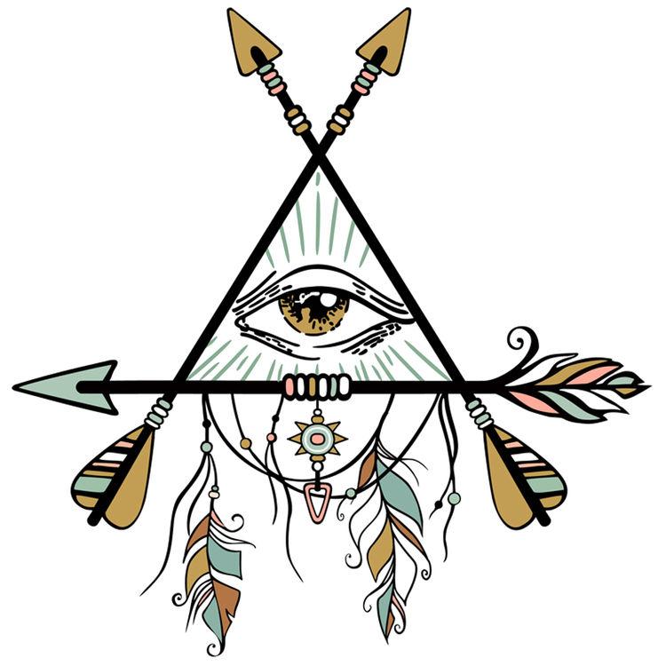Native Bow and Arrow Eye