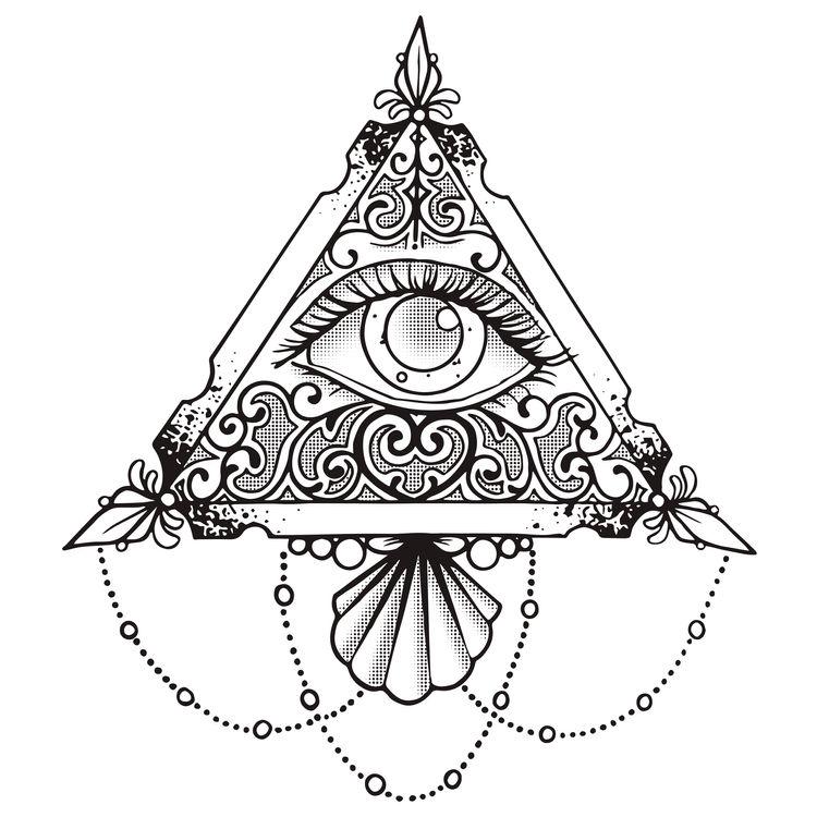 Triangle Eye Chandelier