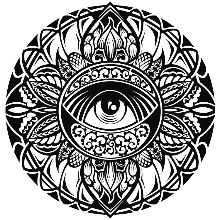 Floral Covered Eye