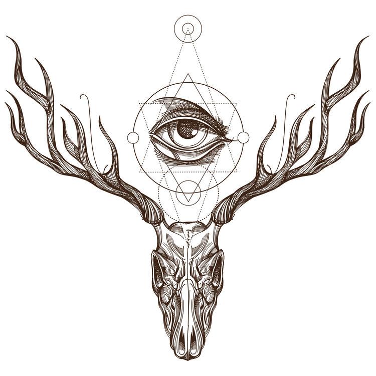 Sepia Deer Eye