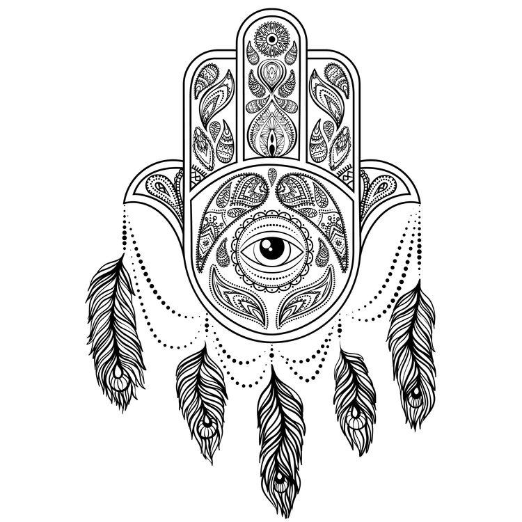 Eye Feathered Chandelier