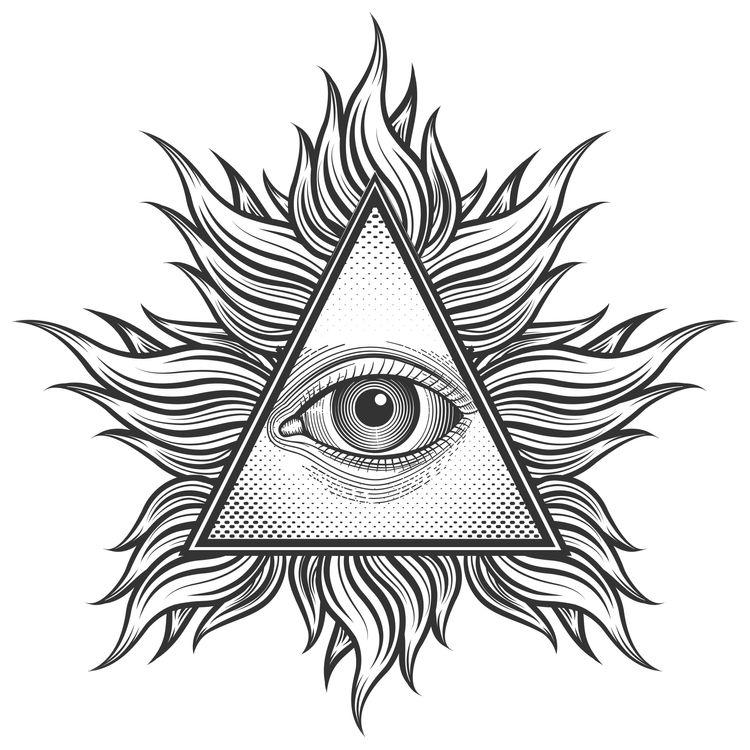 Eye Feathered Triangle