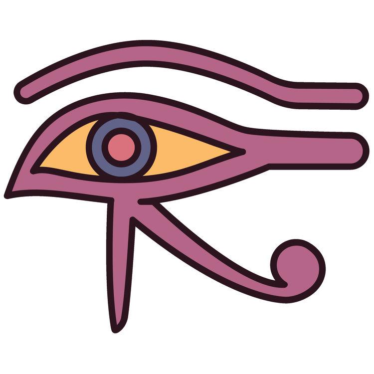 Pink Eye of Horus