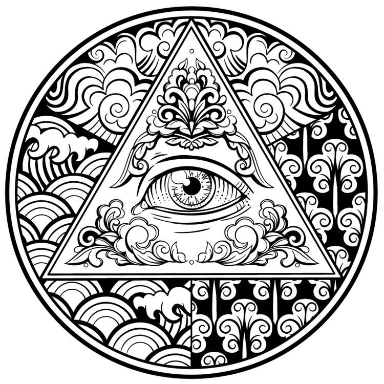 Eye Triangle Circle