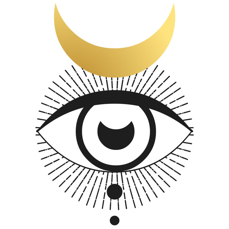 Gold Crescent Moon Eye