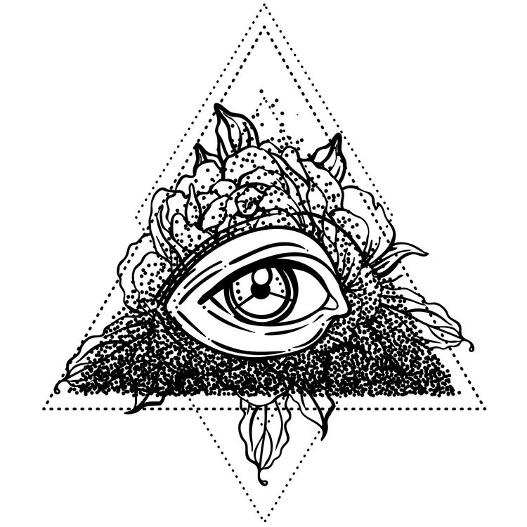 Geometric Floral Eye