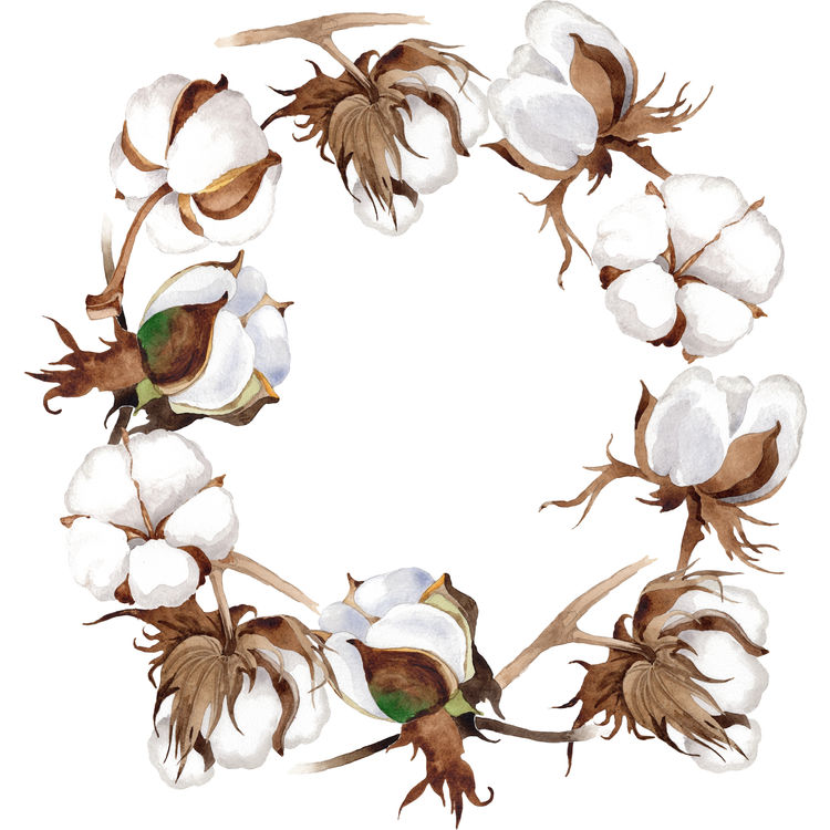 Cotton Stem Wreath