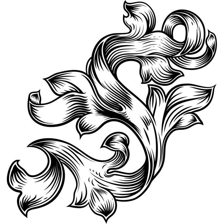 Filigree Floral Pattern