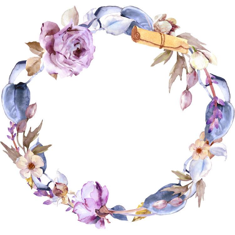 Purple Floral Wreath