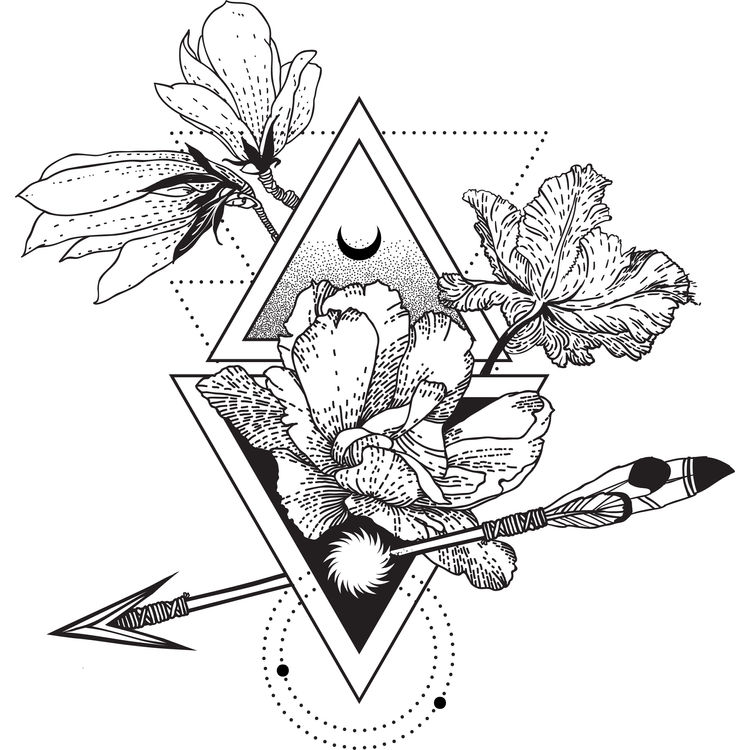Geometric Floral Sign