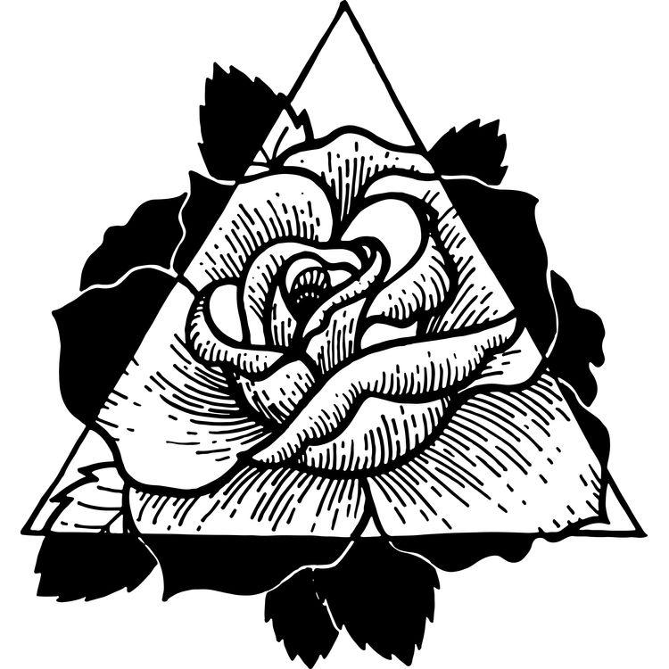 Geometric Rose Flower
