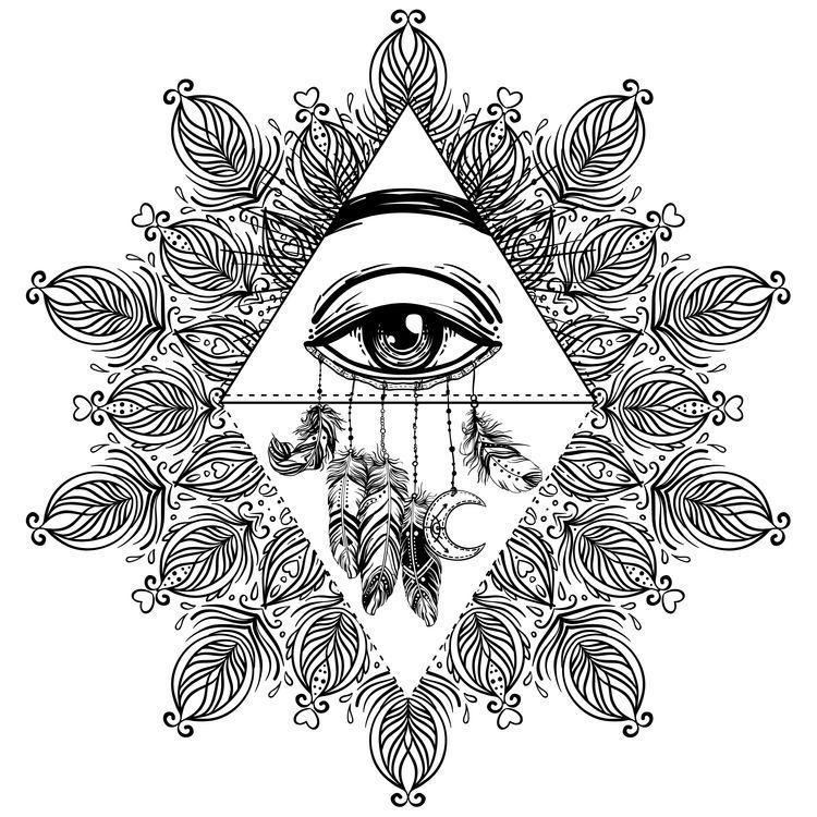 Mystical Floral Eye
