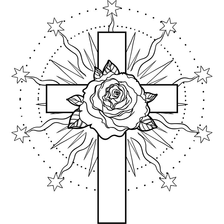 Cross and Rose