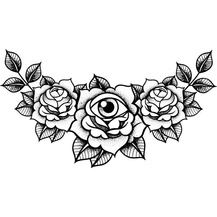 Eye in Roses