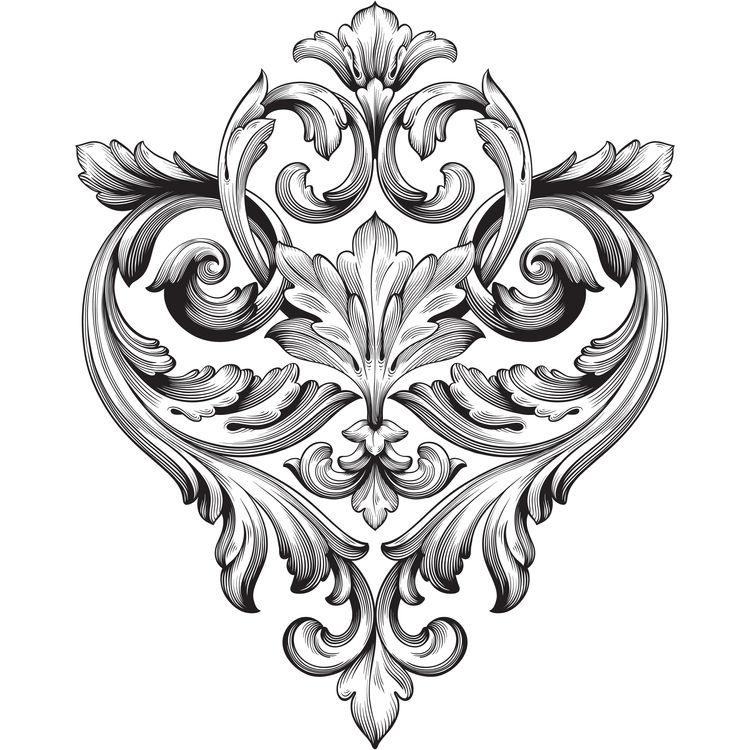 Vintage Baroque Ornament Symbol