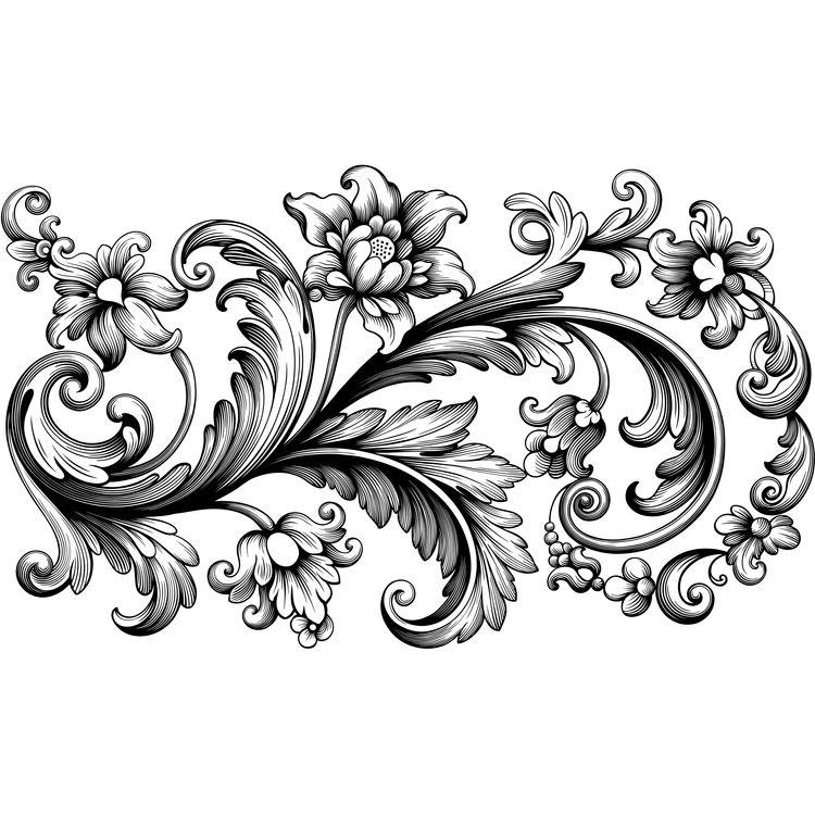 Baroque Ornament Blossoms