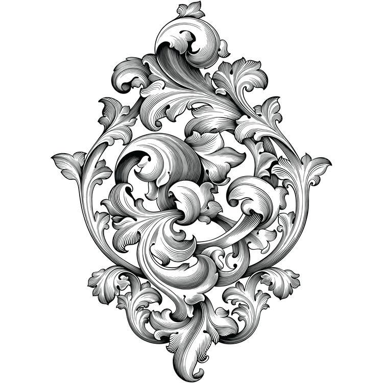 Vintage Baroque Ornament Bloom