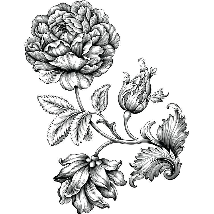 Spring Baroque Ornament