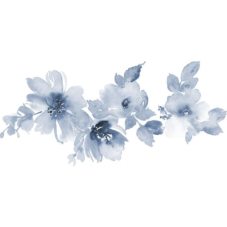 Watercolor Evening Blue Florals