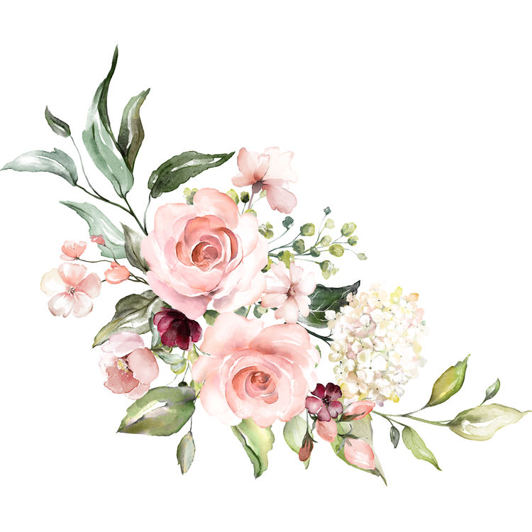 Blushing Watercolor Florals