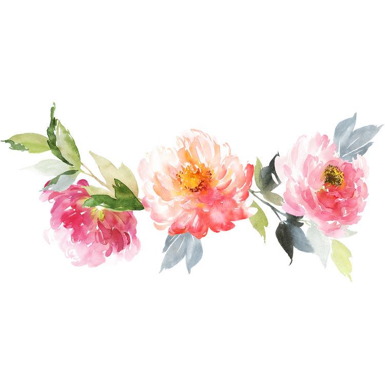 Watercolor Spring Garden
