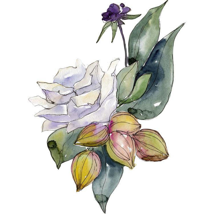 Purple Floral Friends