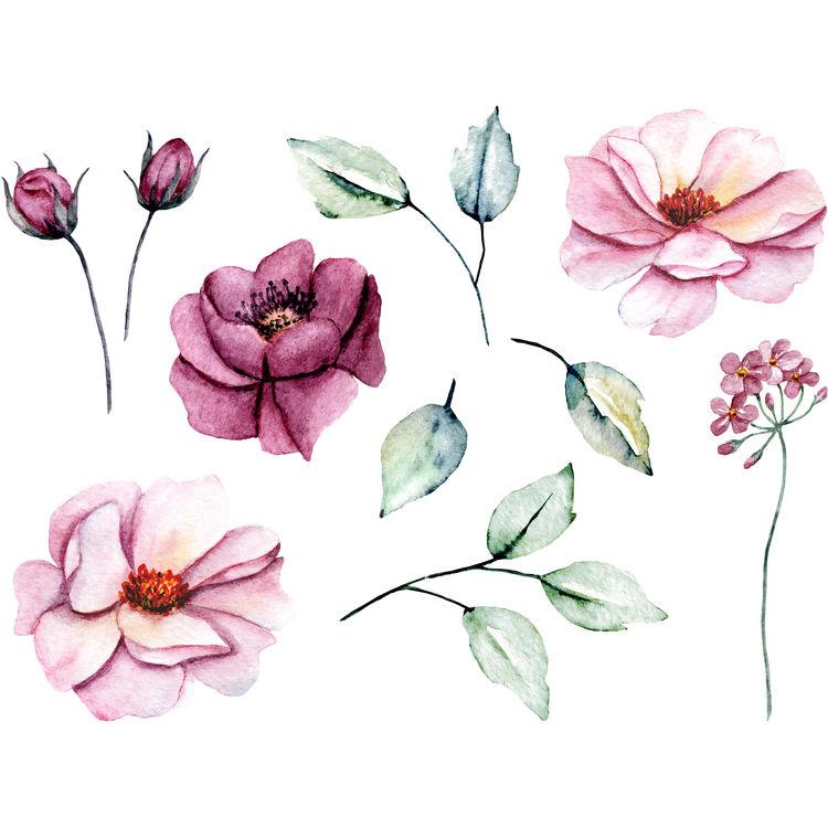Plucked Pink Florals