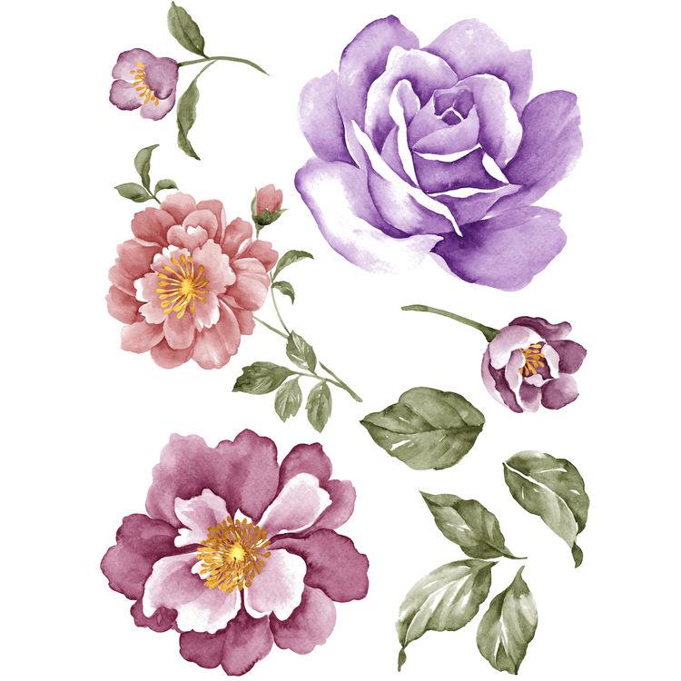 Watercolor Purple Rose Patch