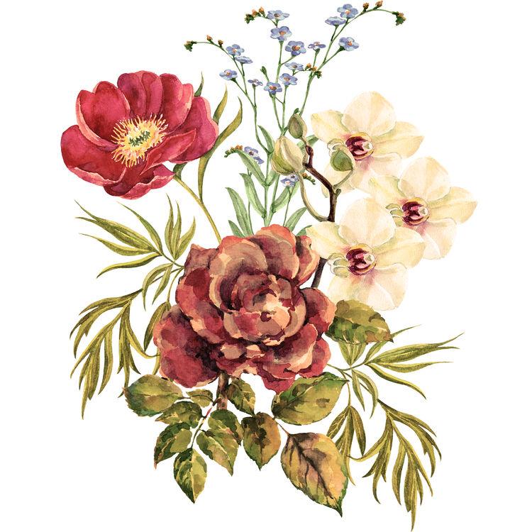 Vintage Watercolor Garden