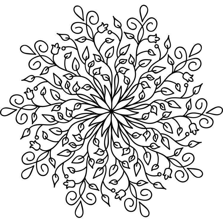 Enchanted Leaves Mandala