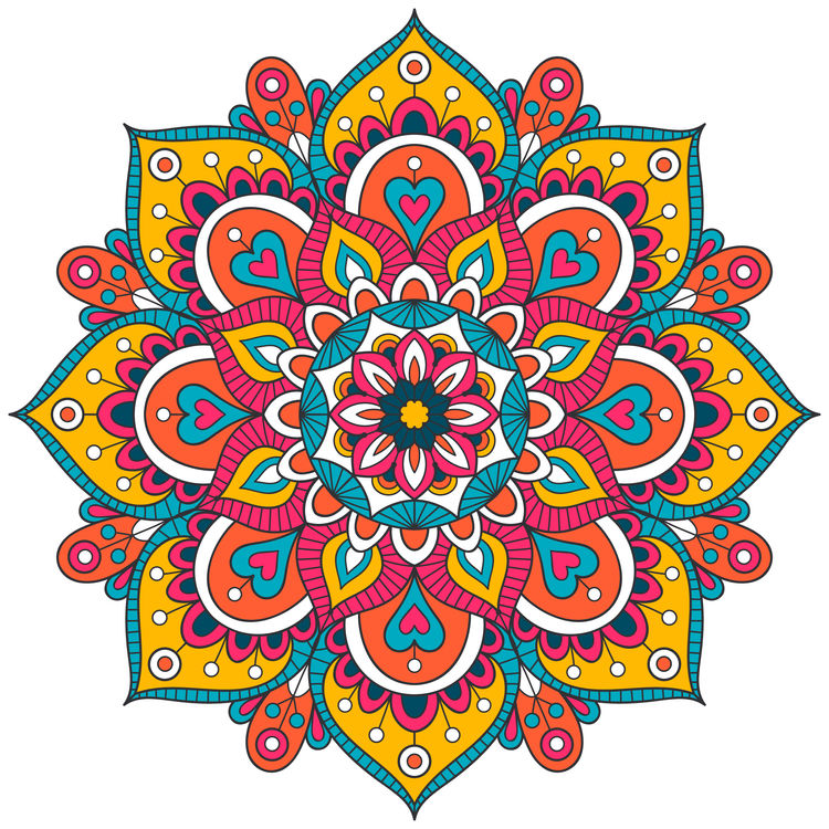 Heart Filled Mandala