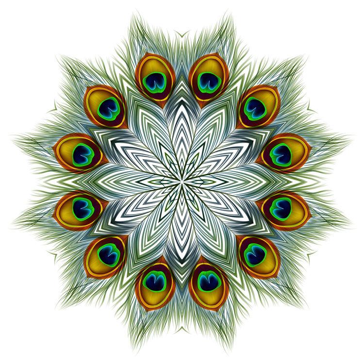 Green Peacock Mandala