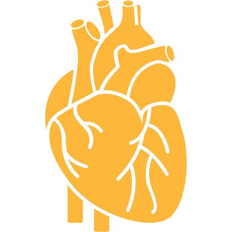 Orange Open Heart