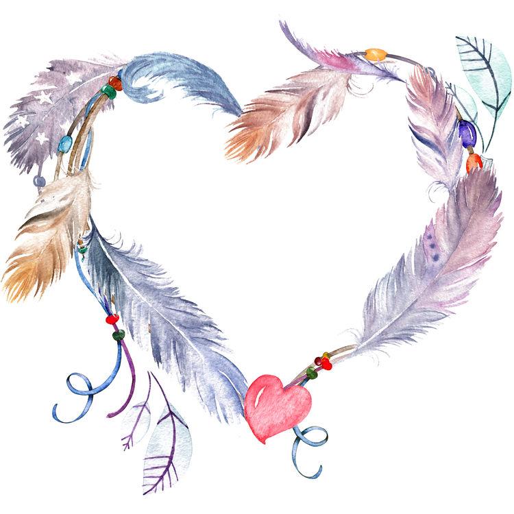 Feathered Purple Heart