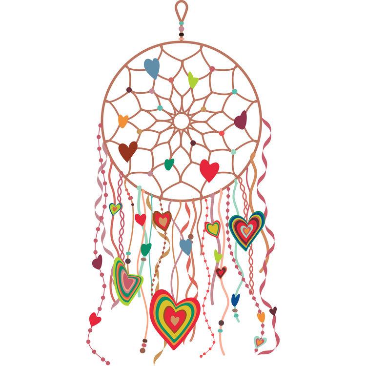 Groovy Dreamcatcher Heart