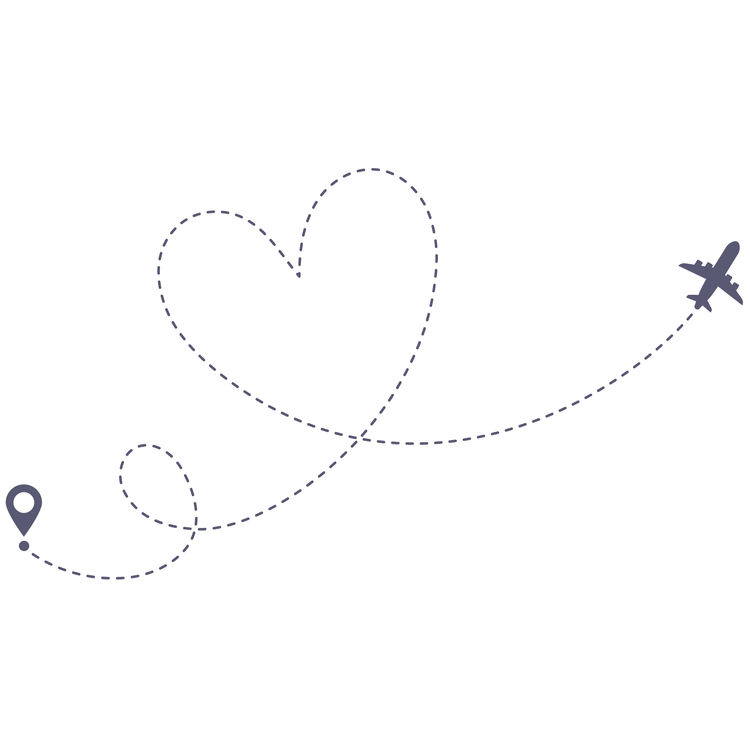 Traveling Dotted Heart