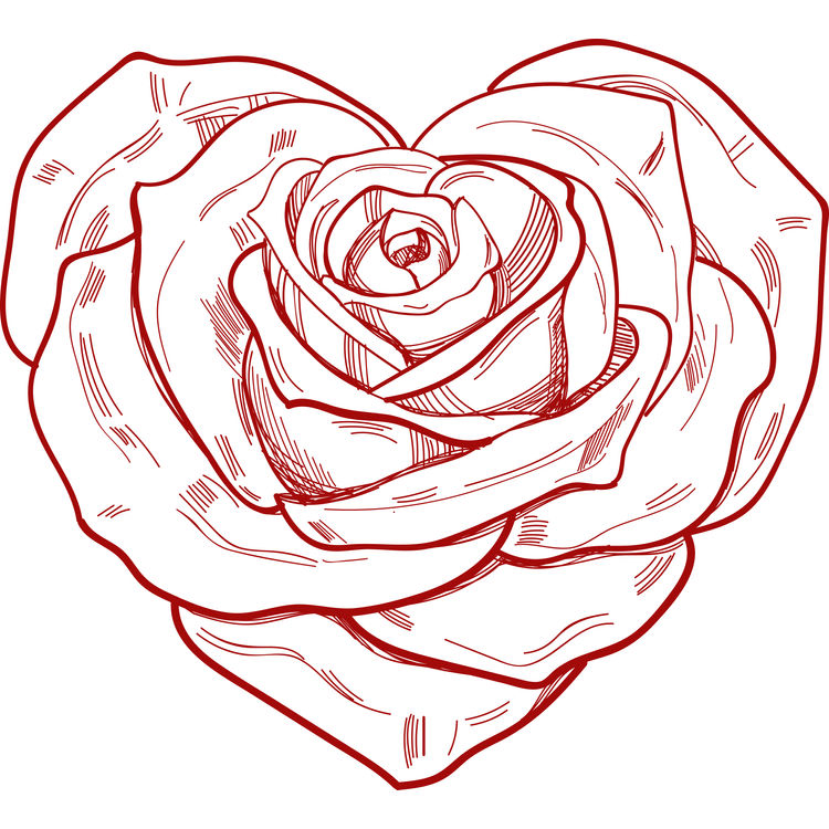 Ruby Rose Heart