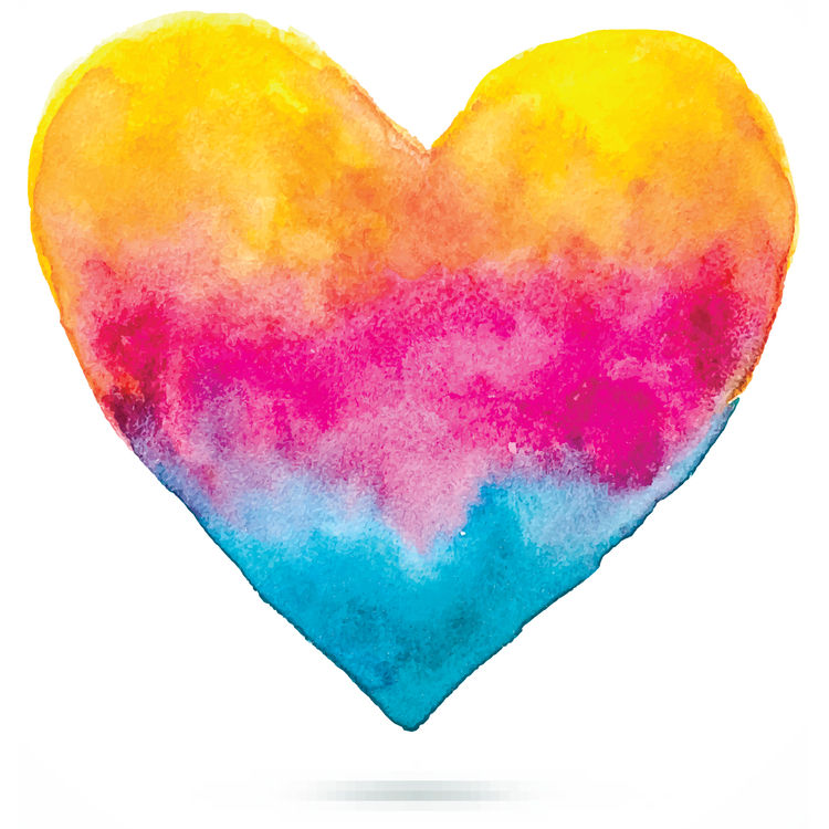 Watercolor Lively Heart