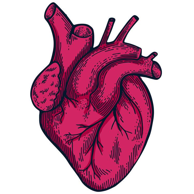 Open Hot Pink Heart