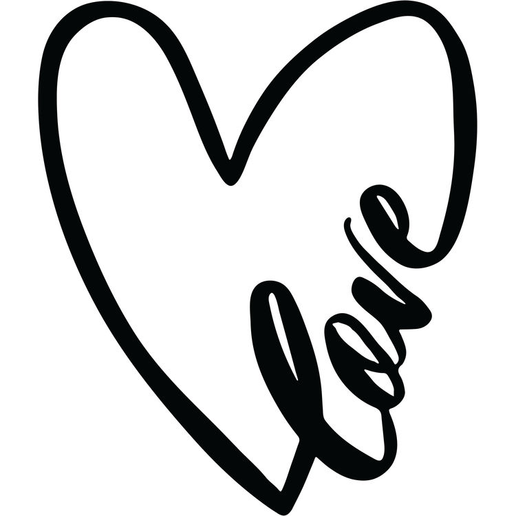 Love Inscribed Heart