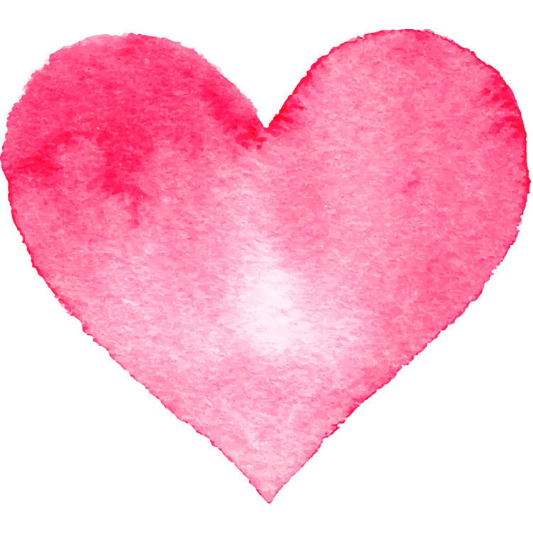 Pretty in Pink Watercolor Heart