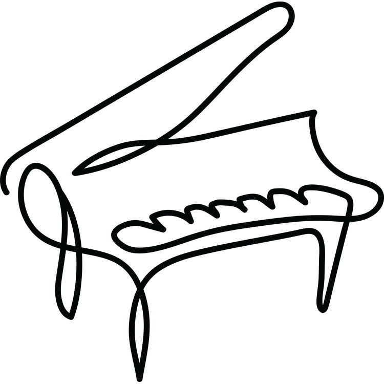 Piano Continuous Drawing